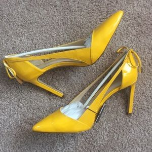 Zara women's yellow heels!